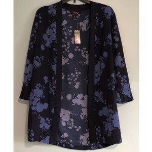 Blue Floral Print Kimono!!